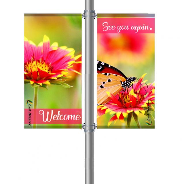 Street Pole Banner, 18 Double Set