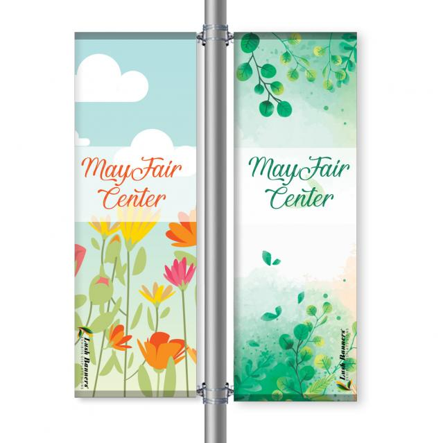 Street Pole Banner, 24 Double Set