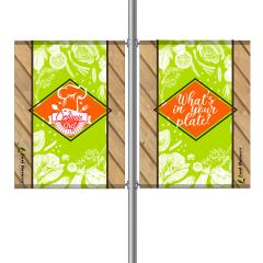 Street Pole Banner, 36 Double Set
