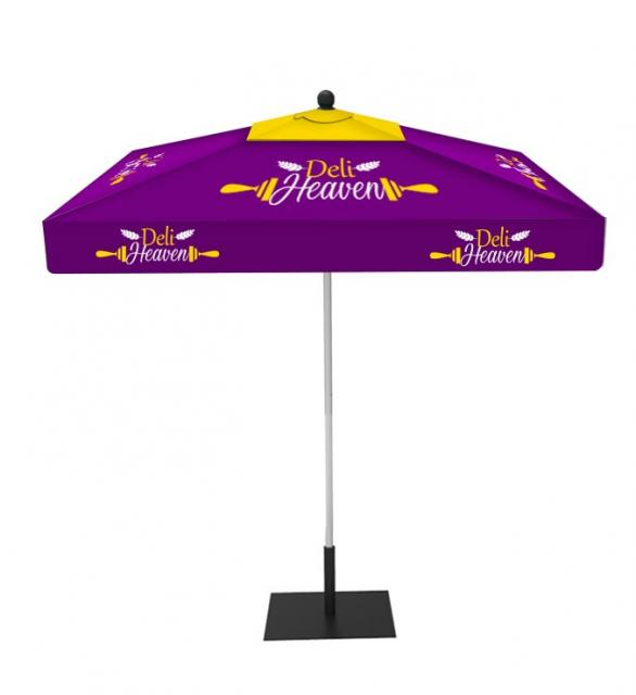 Custom Market Umbrella 9ft Square with Valances