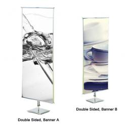 Retail Banner Stand (Standard, Double Sided)
