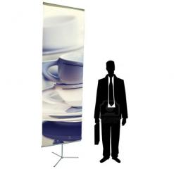 Retail Banner Stand (10ft height adjustable)