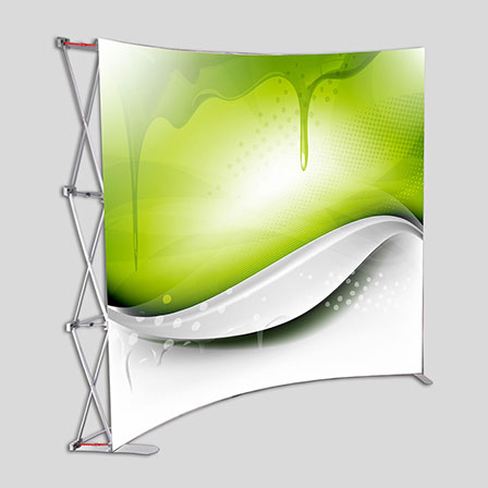 (P1G) - 10ft Premium Magnetic Pop Up Display Curve