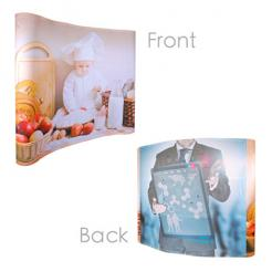 8ft Pop Up Display (Curved | Rounded Sides)